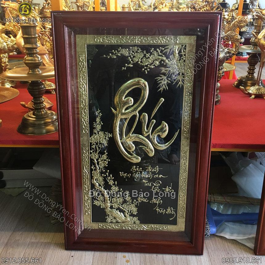 Tranh Đồng Chữ Phúc Thư Pháp 90x55cm
