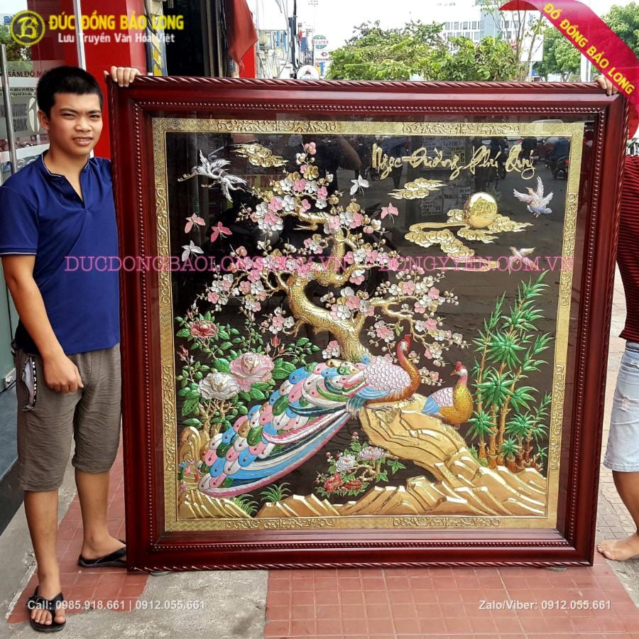 Tranh Công Mai Ngọc Đường Phú Quý 1m6 cho khách Bình Dương