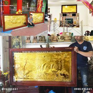 Lắp Đặt 3 Bức Tranh Bằng Đồng Mạ Vàng 24k tại Bình Thuận