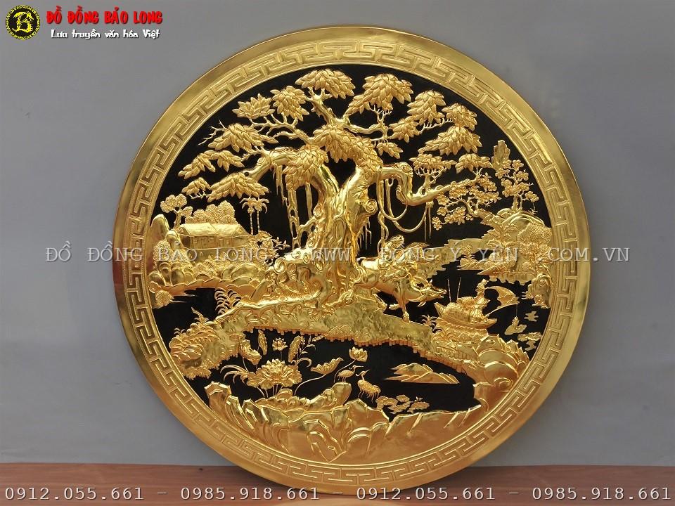 tranh hình tròn đồng quê