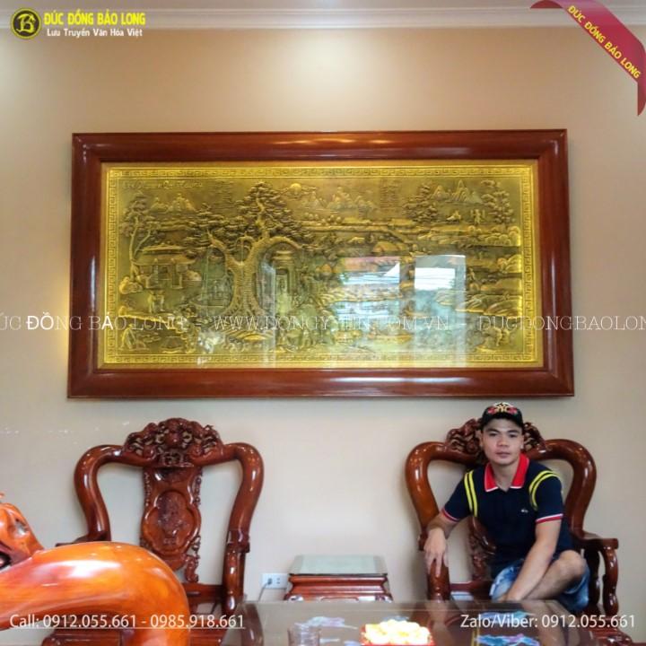 Tranh Cội Nguồn Quê Hương Bằng Đồng 2m35