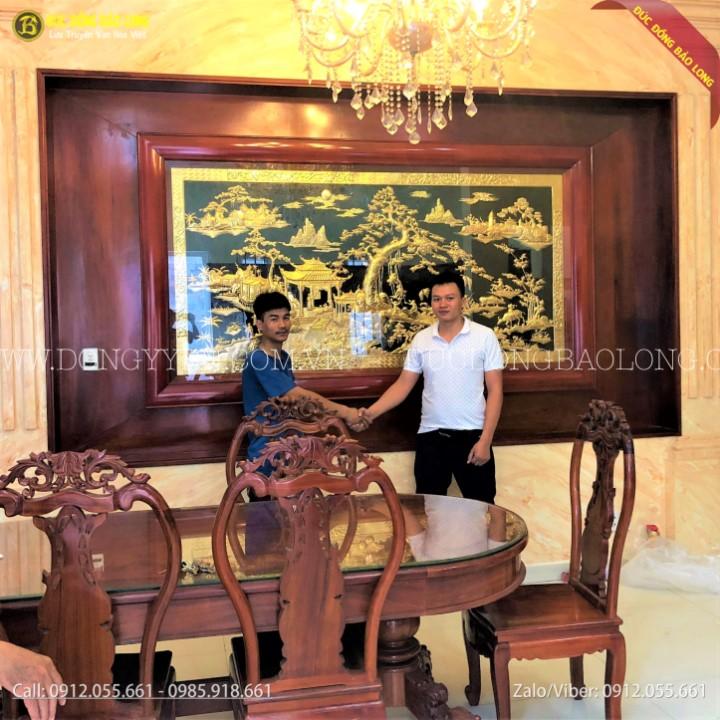 Tranh Đồng Quê Bằng Đồng 2m62 Mạ Vàng 24k Cho Khách Hóc Môn Tphcm