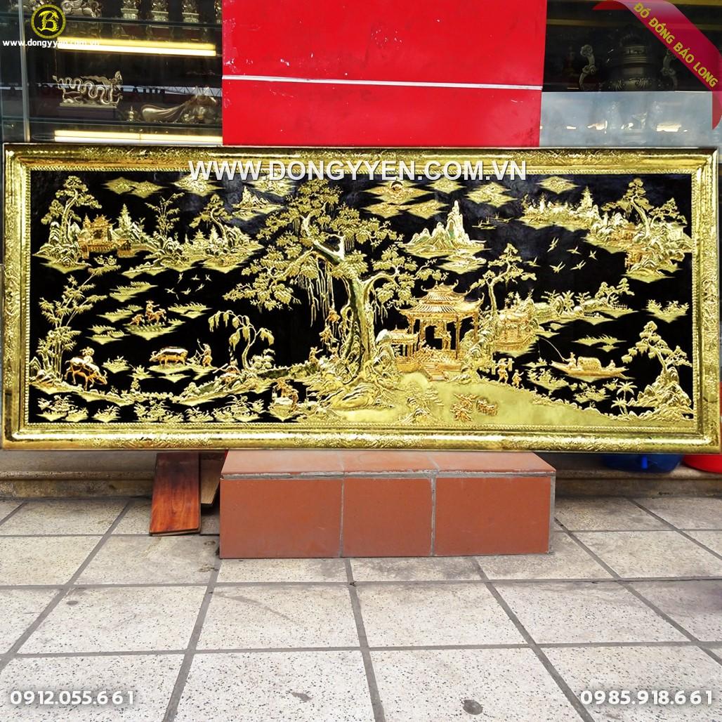 Tranh Đồng Quê Khung Đồng Mạ Vàng 24k 2m62