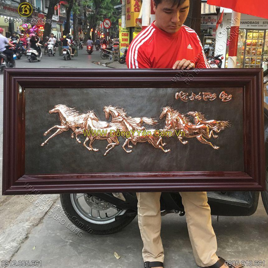 tranh 8 con ngựa đơn giản 1m27