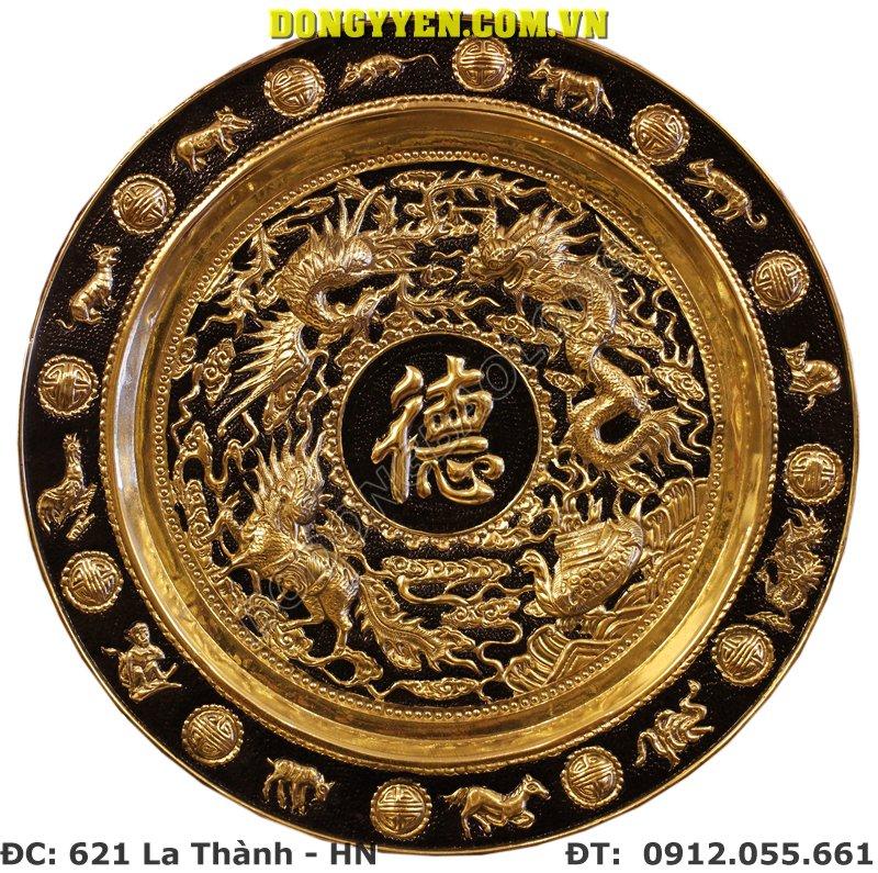 Mâm Đồng Chữ Đức ĐK 50cm
