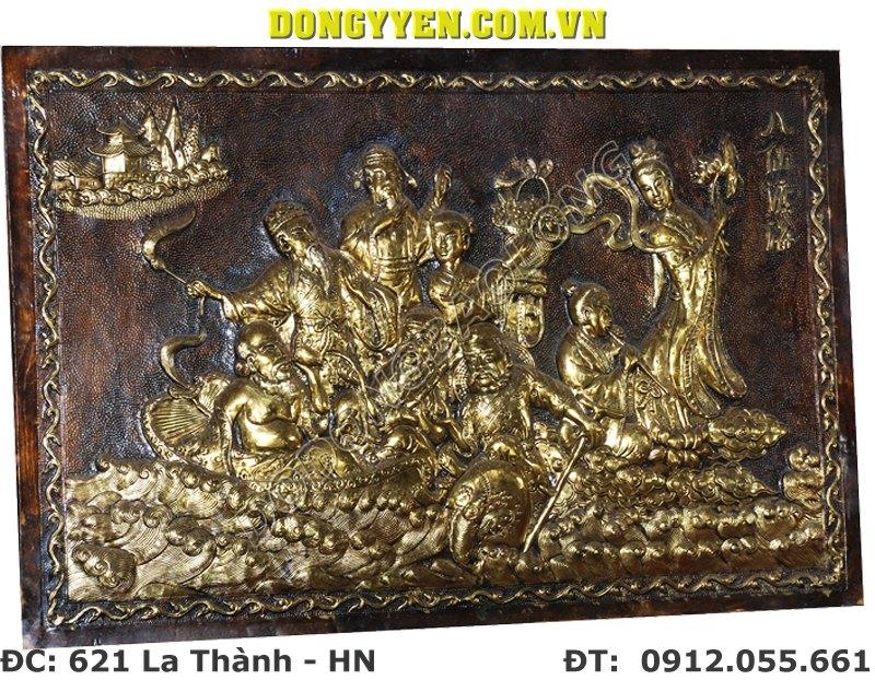 Tranh Bát Tiên Bằng Đồng - Tranh Đồng 8 Vị Tiên 70cm x 60cm