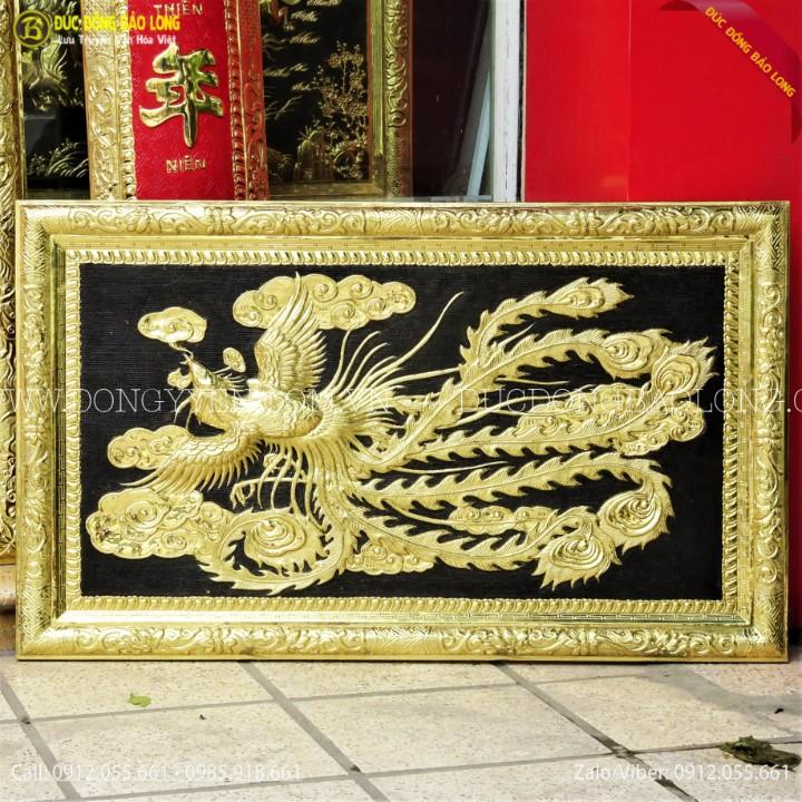 Tranh Chim Phượng Bằng Đồng 1m