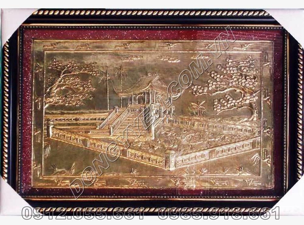Tranh Chùa Một Cột Bằng Đồng 80cm x 60cm
