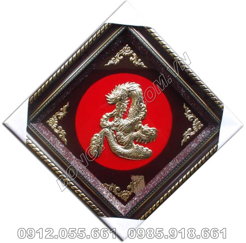 Tranh Đồng Chữ Nhẫn Hóa Rồng 50cm x 50cm