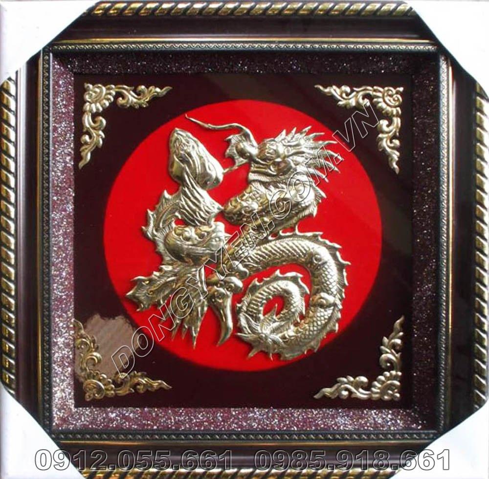 Tranh Đồng Chữ Phúc Hóa Rồng 60cm x 60cm