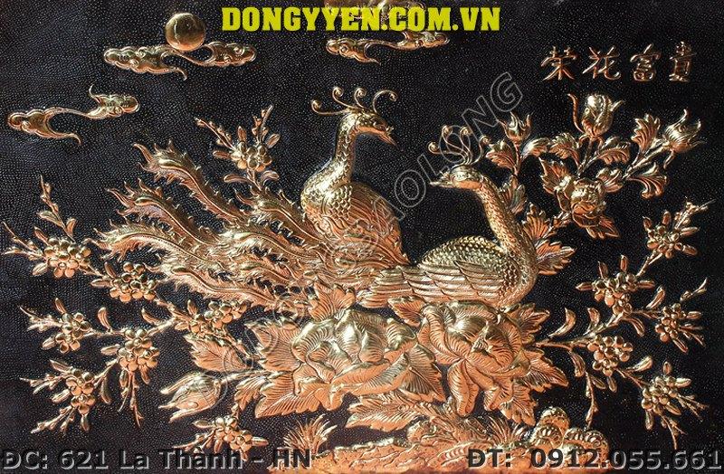 Tranh Đồng Công Mai - Tranh Uyên Ương Bằng Đồng 60cm x 70cm