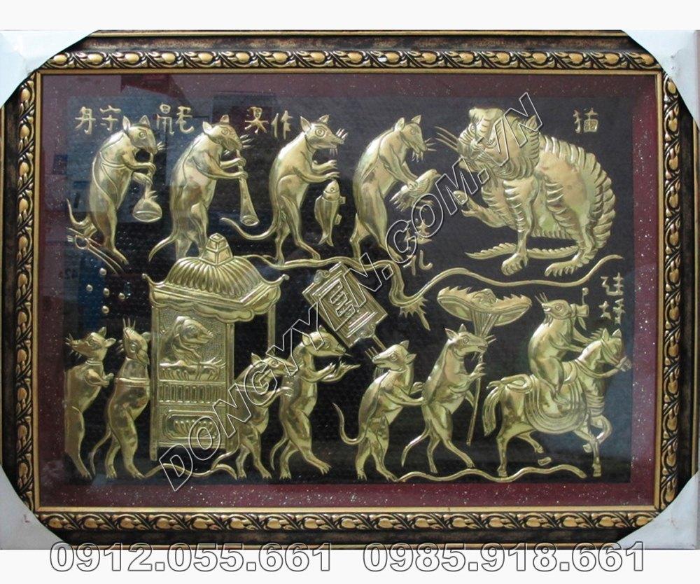 Tranh Đồng Đám Cưới Chuột 60cm x 80cm