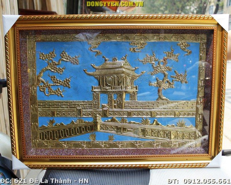 Tranh Đồng Khuê Văn Các 40 x 50cm