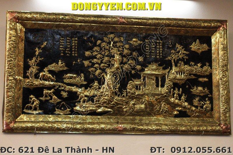 Tranh Đồng Quê Khung Liền Đồng 1m55