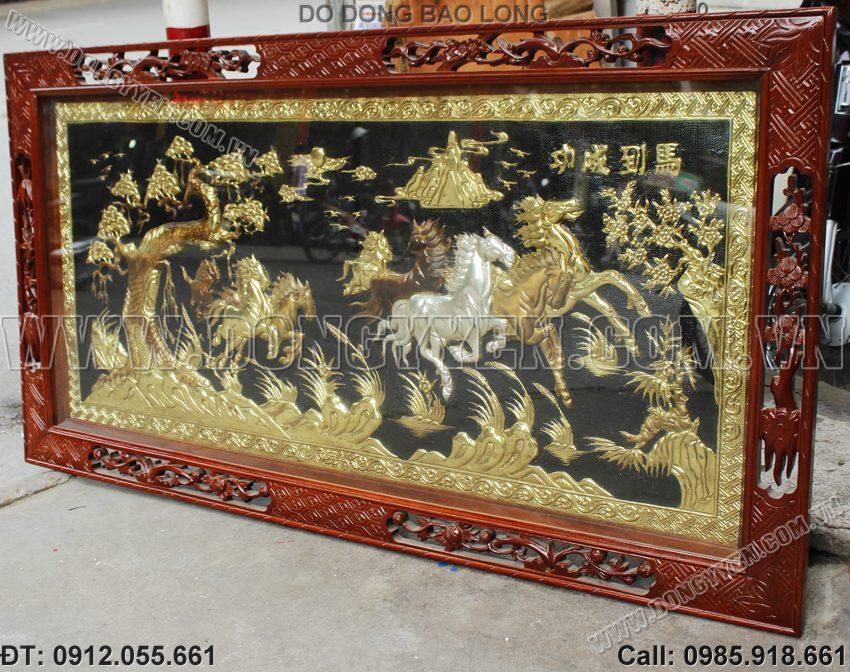 Tranh Mã Đáo Thành Công - Tranh 8 Con Ngựa Bằng Đồng
