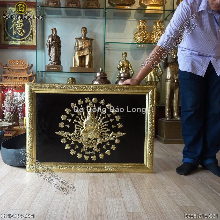 Tranh Phật Bà Nhìn Mắt Nhìn Tay 88cm
