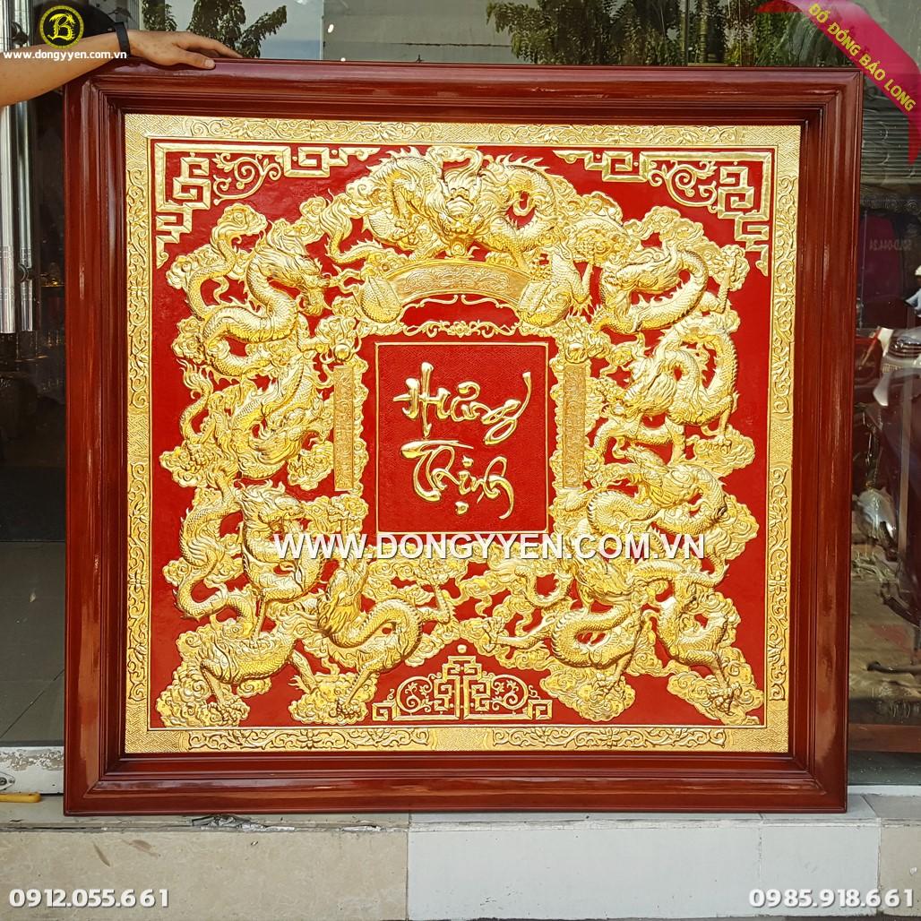 Tranh Cửu Long Hưng Thịnh 1m33 Mạ Vàng 24k