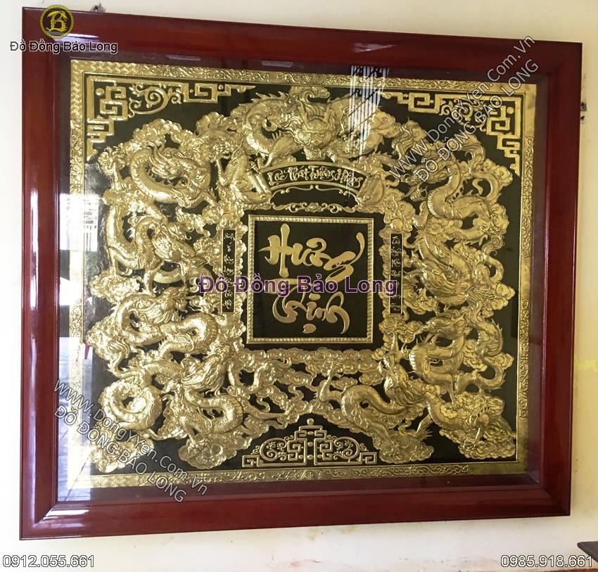 Tranh Đồng Cửu Long Hưng Thịnh 2m31