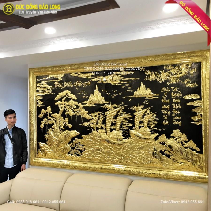 Lắp Đặt Tranh Thuận Buồm Xuôi Gió 2m62 cho khách Hà Nội