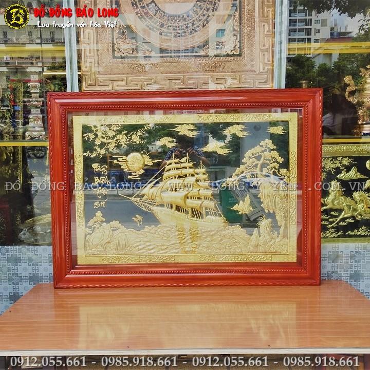Tranh Thuận Buồm Xuôi Gió 1m47 x 1m07 Mạ Vàng 24k