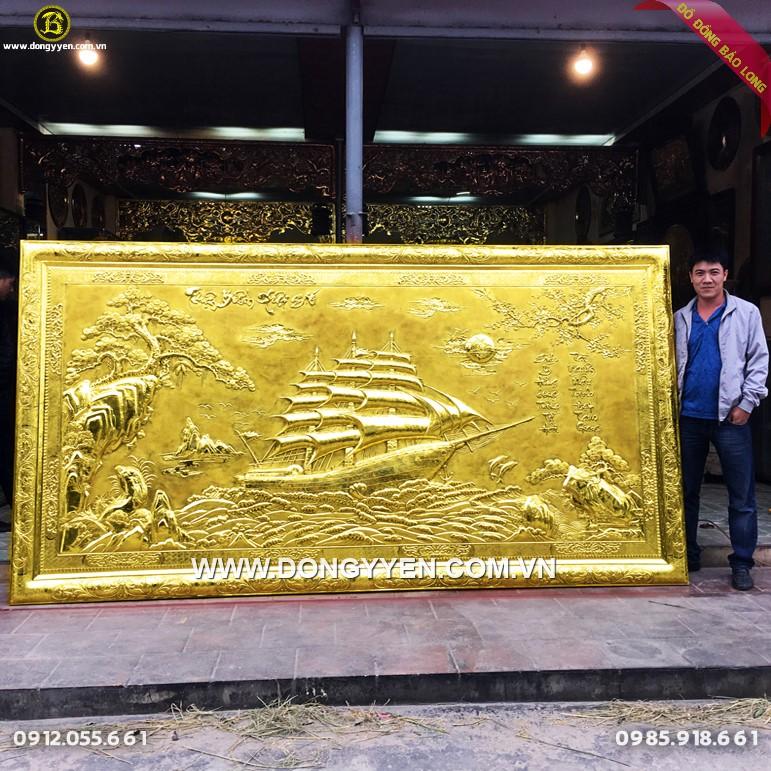 Tranh Thuận Buồm Xuôi Gió 3m4 Dát Vàng 9999