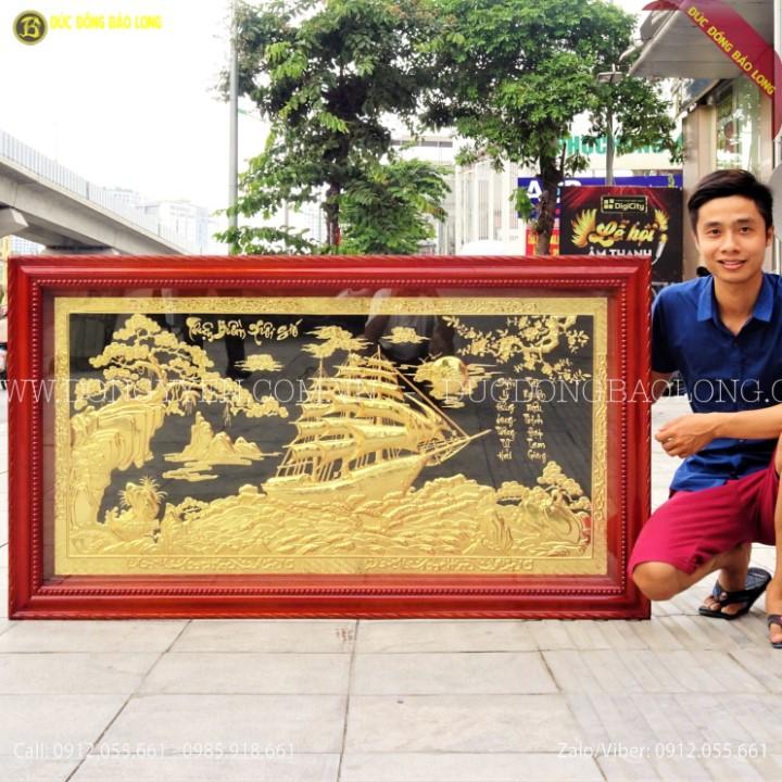 Tranh Thuận Buồm Xuôi Gió Mạ Vàng 24k 1m55x88cm
