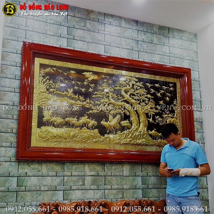 Tranh Bách Hạc Quần Tùng 2m31 x 1m33 Cho Khách Sài Gòn