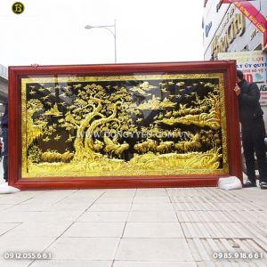 Tranh Bách Hạc Song Tùng 3m21 cho khách Bình Định