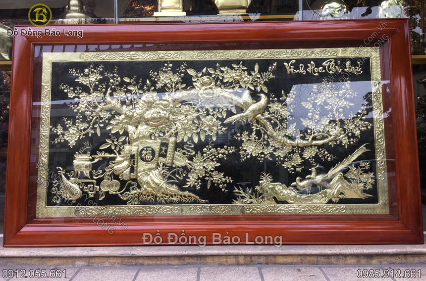 tranh vinh hoa phú quý 2m31 khung gỗ