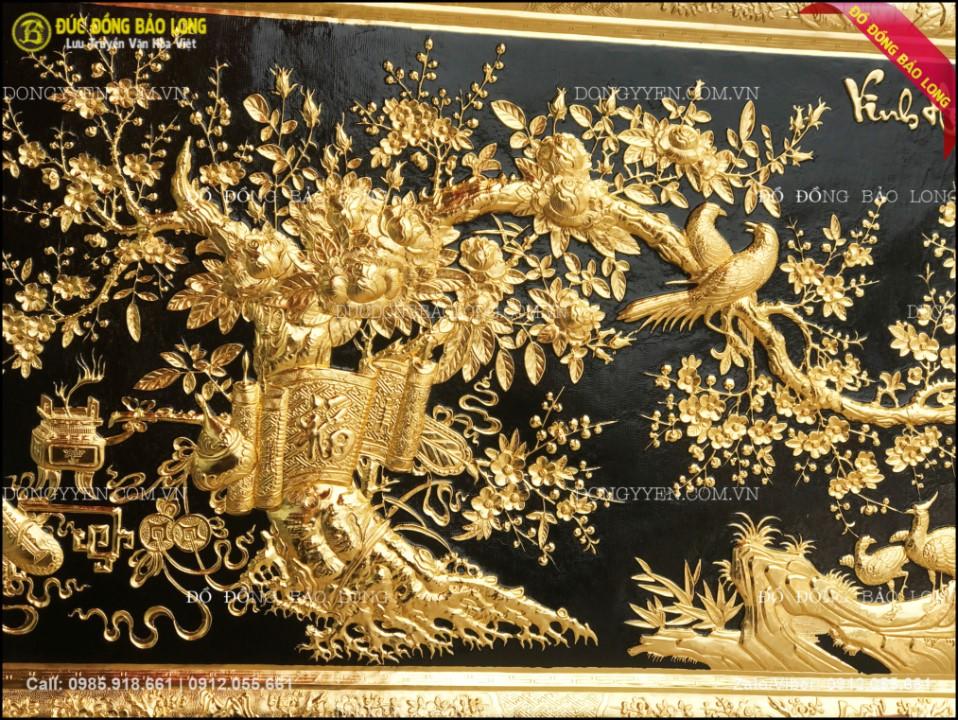 tranh vinh hoa phú quý bằng đồng