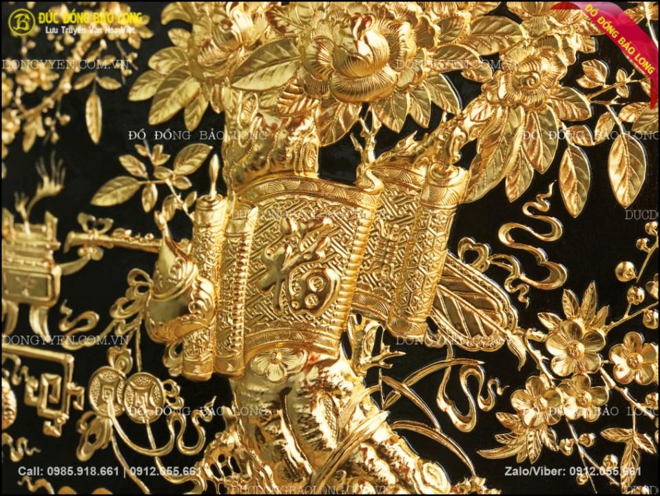 tranh vinh hoa phú quý mạ vàng