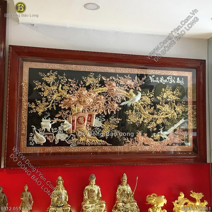 Tranh Đồng Vinh Hoa Phú Quý Mạ Vàng, Mạ Bạc 2m31