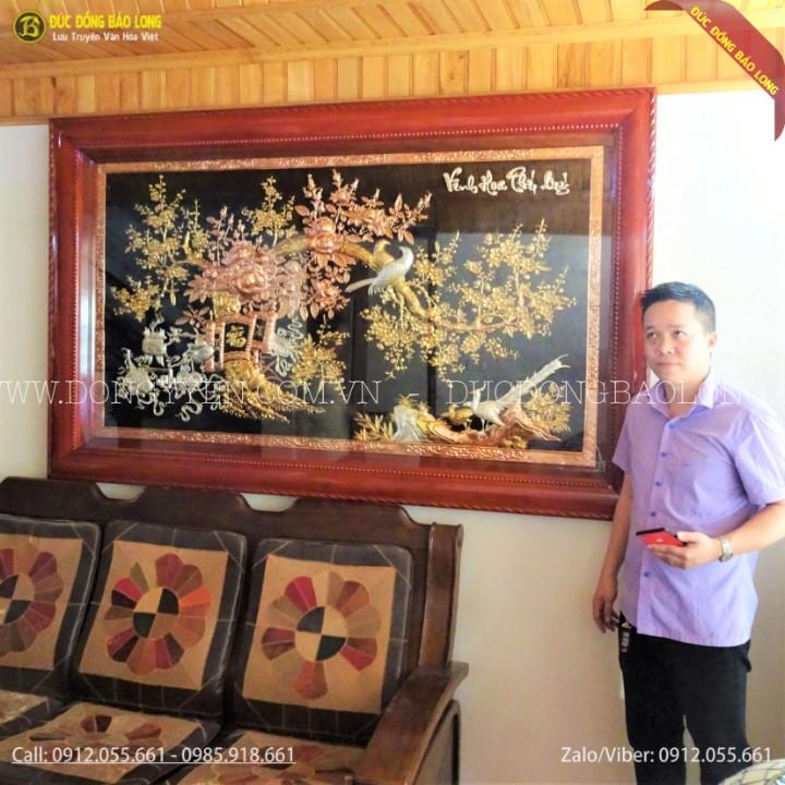 Tranh Vinh Hoa Phú Qúy Mạ Tam Khí 2m05 x 1m27 Cho Khách Ở Đan Phượng