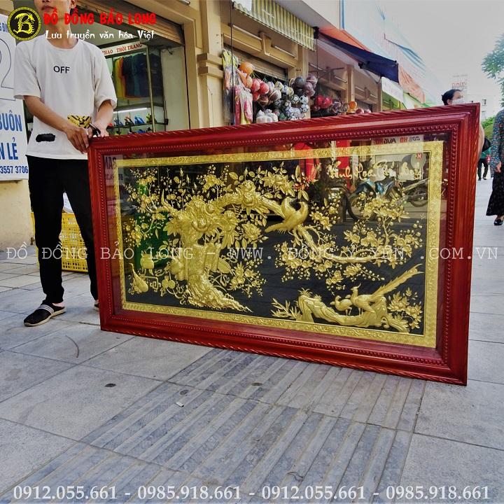 Tranh Vinh Hoa Phú Qúy Mạ Vàng 1m55 x 88cm