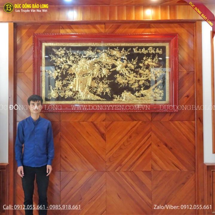 Tranh Vinh Hoa Phú Qúy Mạ Vàng 2m31 Cho Khách Hàng TP Lào Cai