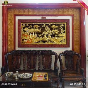 Tranh Vinh Quy Bái Tổ Bằng Đồng 1m97 cho khách Phú Thọ