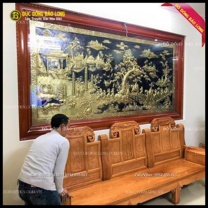 Tranh Vinh Quy Bái Tổ Bằng Đồng 2m81 x 1m55 Cho Khách Nghệ An
