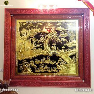 Tranh Vinh Quy Bái Tổ Bằng Đồng 1m97 cho khách Hưng Yên