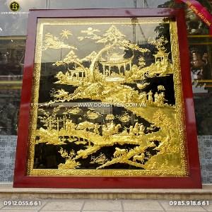 Tranh Vinh Quy Bái Tổ Mạ Vàng 1m73x1m87 Khách Hưng Yên