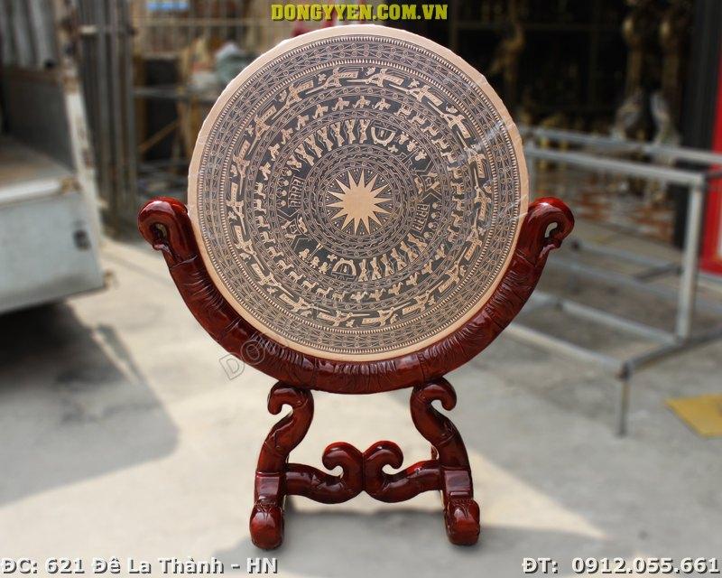 Mặt Trống Đồng Đúc Bằng Đồng Đỏ ĐK 80cm