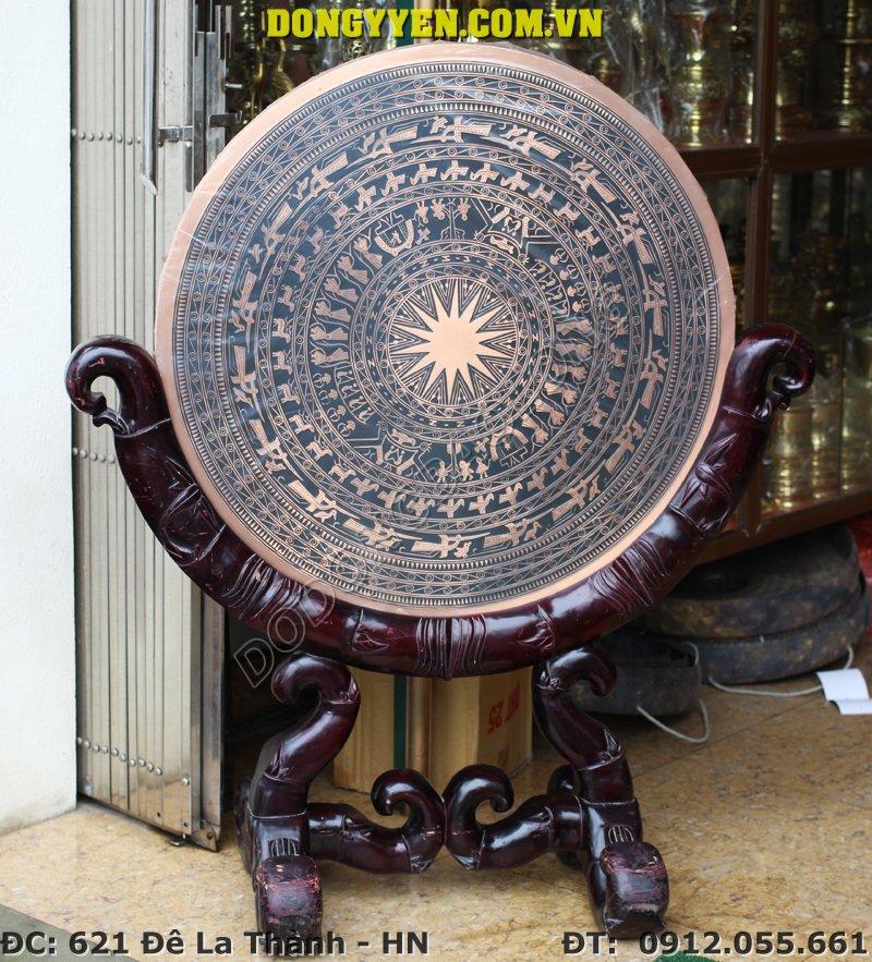 Mặt Trống Đồng Trưng Bày Đường Kính 80cm