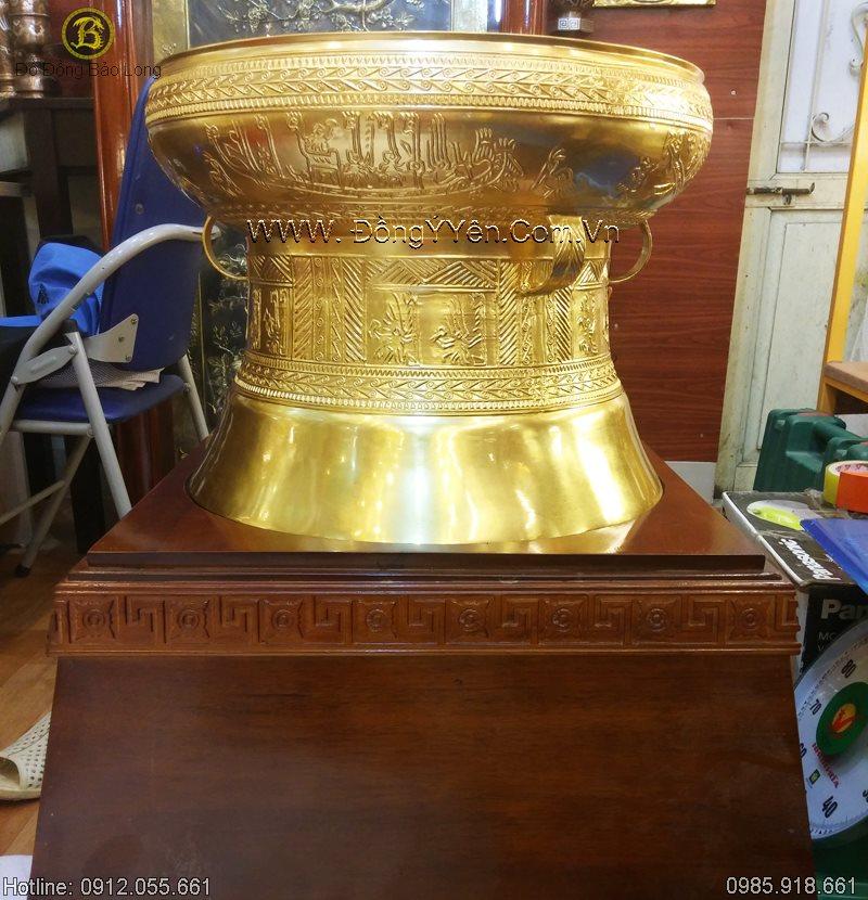 Quả Trống Đồng Thếp Vàng ĐK 50cm