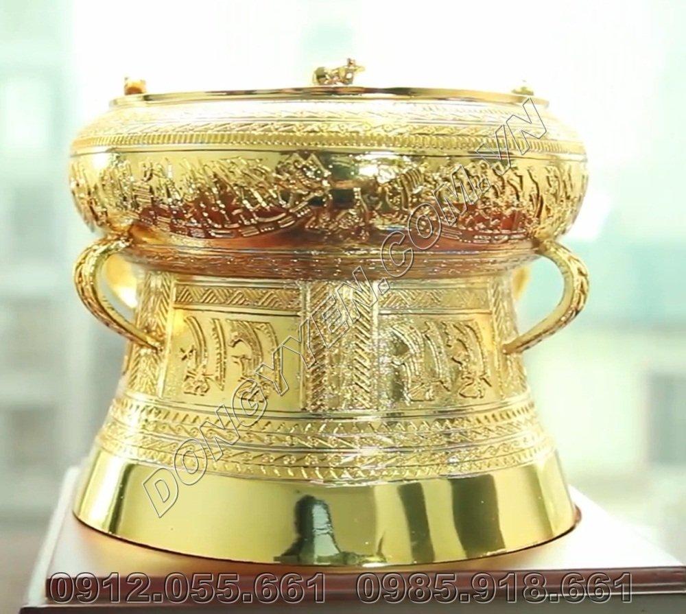 Trống Đồng Mạ Vàng Cao Cấp - Trống Đồng Quà Tặng Mạ Vàng 24K