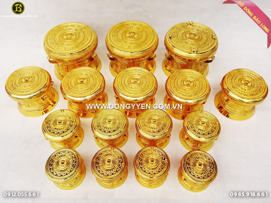 trống đồng mạ vàng 24k làm quà tặng