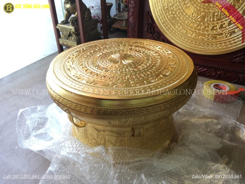 trống đồng đông sơn dát vàng