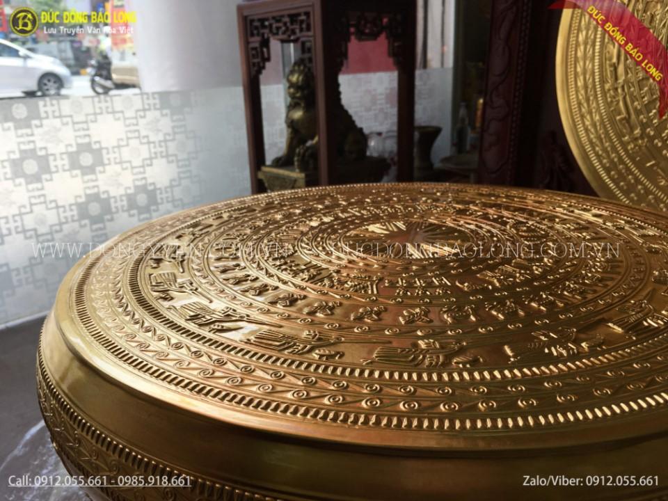 trống đông đông sơn 50cm dát vàng 9999