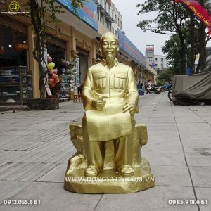 Tượng Bác Hồ Ngồi cao 80cm Cho phòng thờ bác tại TPHCM