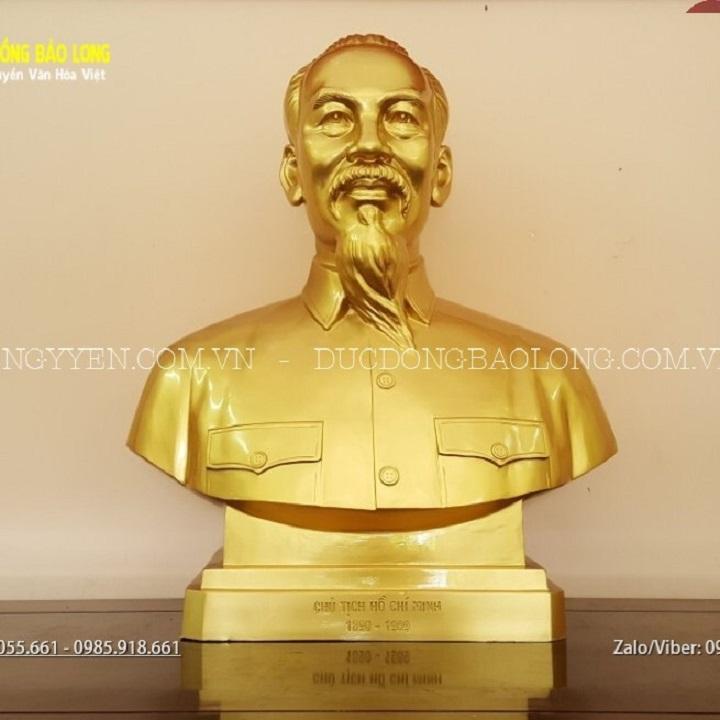 Tượng Bác Hồ Bán Thân 89cm Cho Đền Liệt Sỹ Cần Giờ