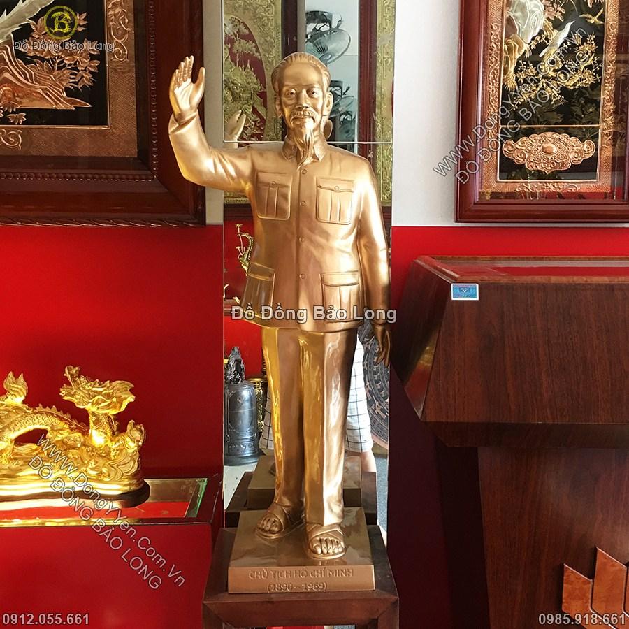 Tượng Bác Hồ Vẫy Tay Chào 81cm