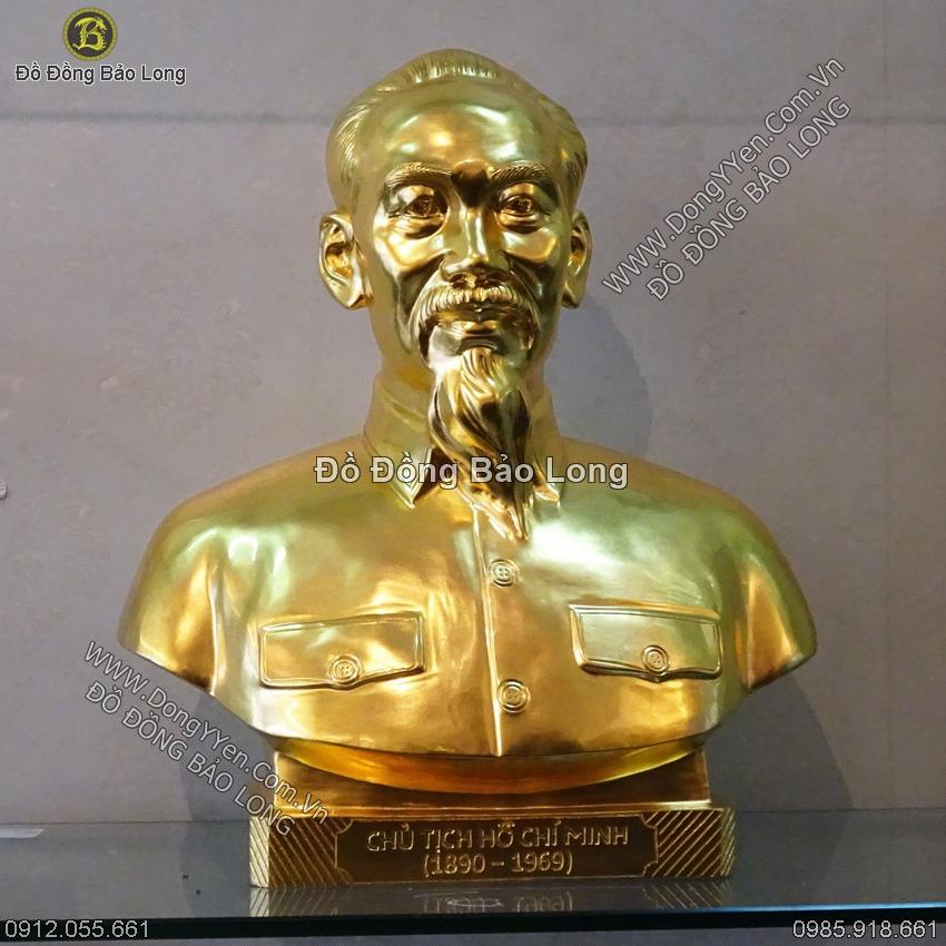 Tượng Chân Dung Bác 50cm Dát Vàng